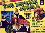 Póster de la película La jungla de asfalto (The Asphalt Jungle, 1950), dirigida por John Huston.